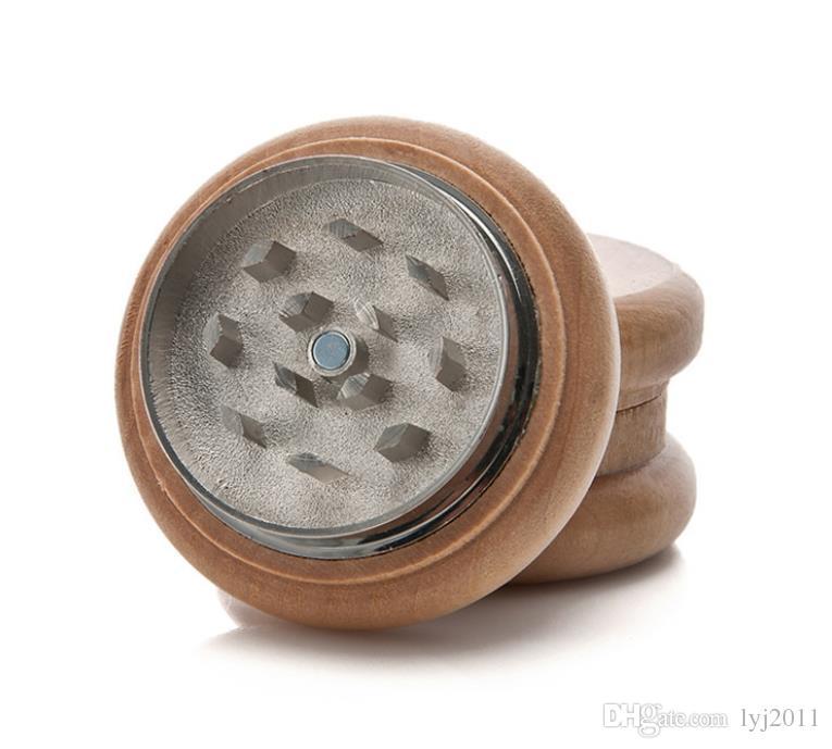 Protokollieren Sie zwei Schicht Cigarette Mill Durchmesser 55MM runden Holzschleifer Rauchen Set