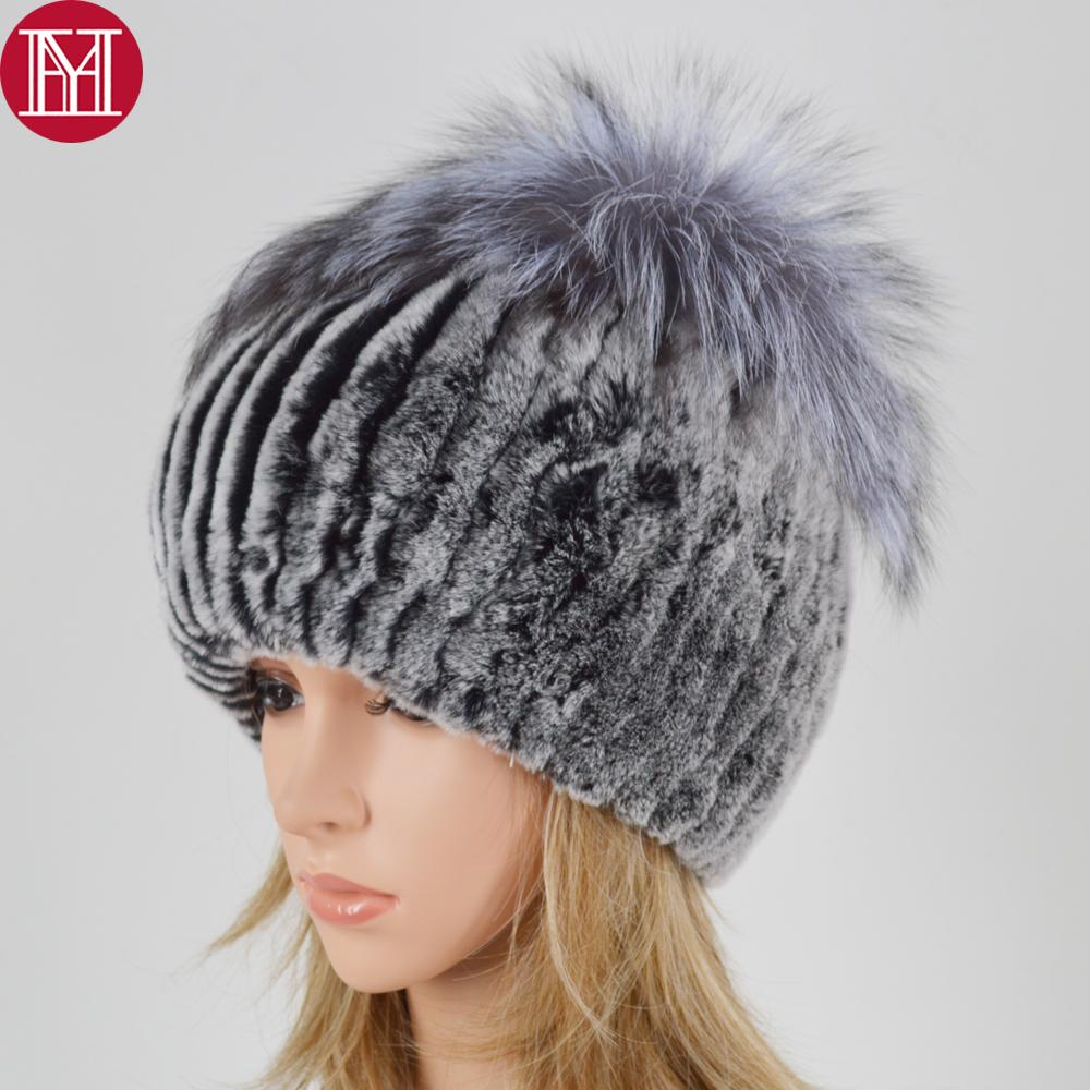 9ce99f75 New Style Women Luxury Winter Genuine Real Rex Rabbit Fur Hats Lady Warm  Good Quality 100% Natural Real Sliver Fox Fur Caps Knitted Hat Cap Hat From  Haroln, ...