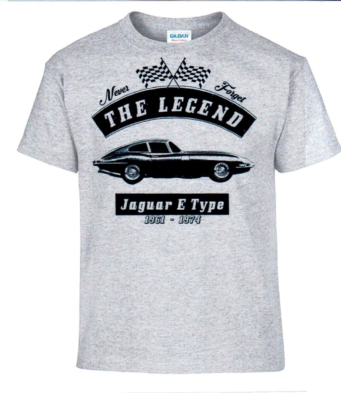 T-Shirt, Fashion Print Hochwertiges Top T-Shirt 100% Baumwolle E Type, Oldtimer, Youngtimer