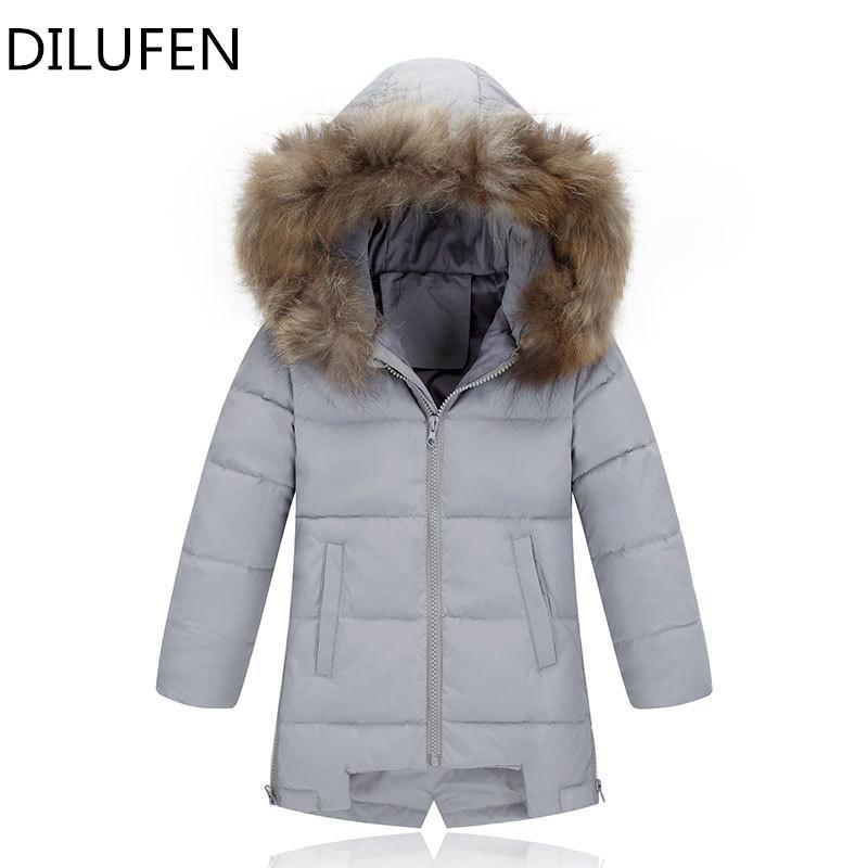 88a2b991f044 2018 Winter Down Jacket Parka For Girls Boys Coats