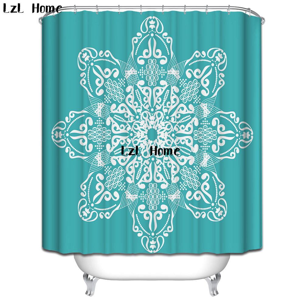 LzL Home Fancy Flower Butterfly Shower Curtains Colorful Printed ...