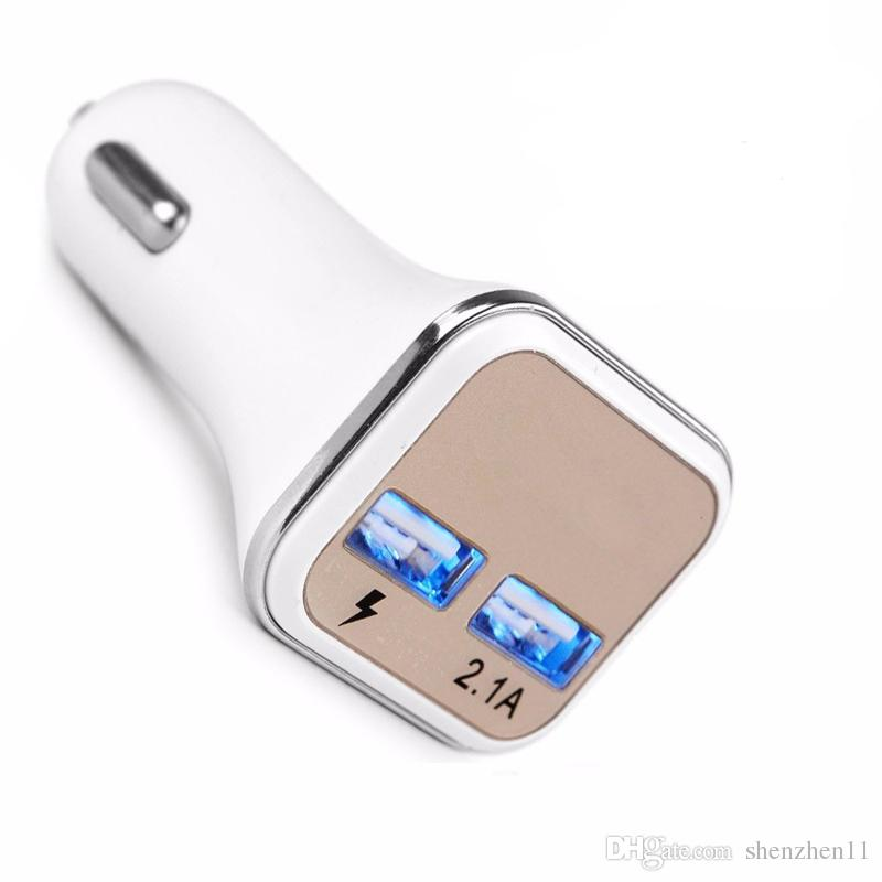 Hot New Dual USB Ports Adaptive QC2.0 LED Quick Charge Super Fast Car Charger For Samsung Galaxy Note 5 S6 S7 Edge + CAB259