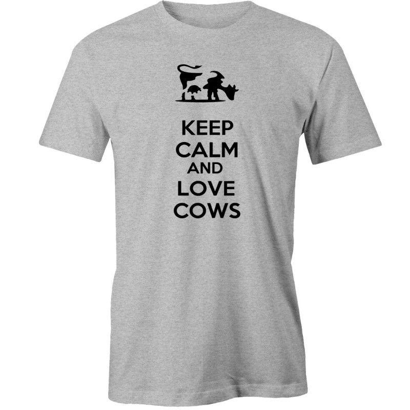 d540943f8 Keep Calm Love Cows T Shirt Animal Funny Unisex Casual Political T Shirts  Cotton T Shirt From Clothing_dealss, $12.96| DHgate.Com