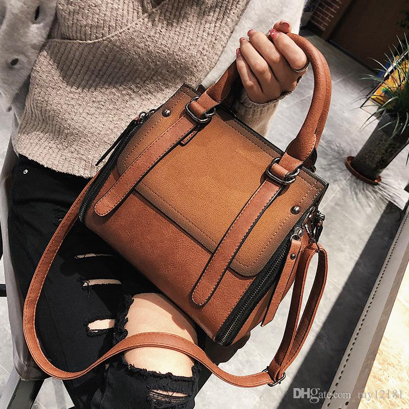 324a9ce5cff Designer Famous Brand Matte Shoulder Messenger Fashion Women Bags Girls  Frosted Vintage Luxury Handbags High Quality PU Leather Classic Tote Online  with ...