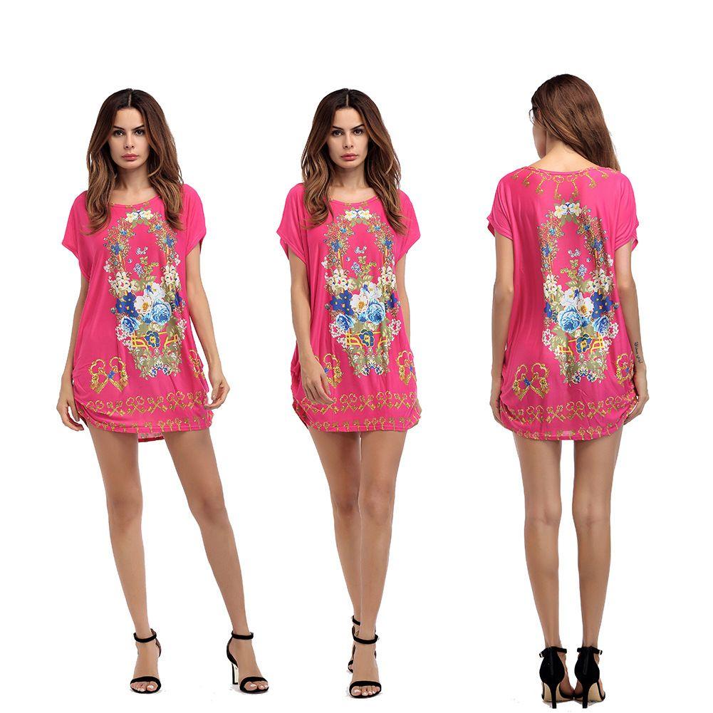 Big Size Ladies Dress 2018 Summer Dress Plus Size Fashion 100