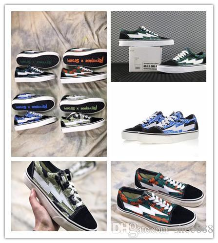 New 2018 Revenge X Storm Old Skool Green Black Multicolor Mens Women Revenge  X Storm Casual Shoes Kendall Jenner Ian Connor Skate Sneakers White  Mountain ... 8e5c14eb3