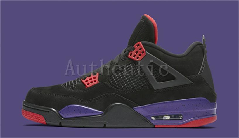 sneakers for cheap 9e021 5cf05 2018 New Release 4 Drake NRG Raptors 4S IV Basketball Shoes Sneakers For  Men Black Purple Red AQ3816-056 Drake Raptors Training Sneakers