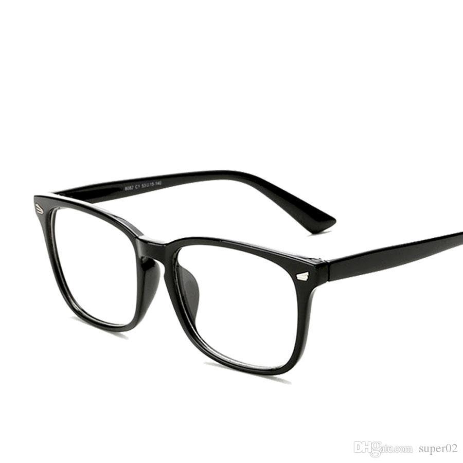 c5ea4f17a8 2018 New Eyeglasses Men Women Suqare Brand Designer Eyeglasses Frame Optical  Computer Eye Glasses Frame Oculos De Grau Prescription Glasses Online Round  ...