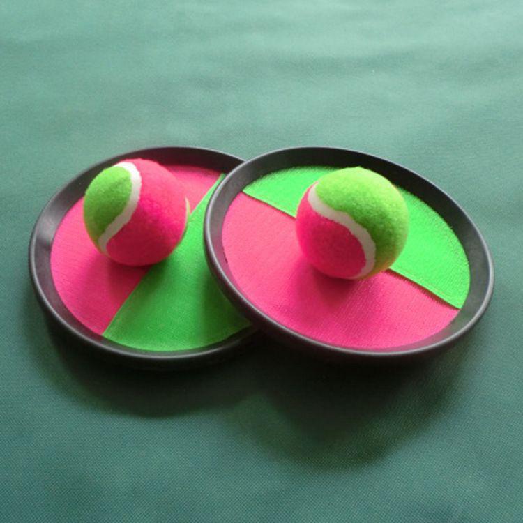 3 قطعة / المجموعة الكرة لعب لزجة الهدف مضرب الشاطئ داخلي وخارجي متعة الرياضة الوالدين والطفل التفاعلية رمي و اقبض عناصر الجدة HH7-981