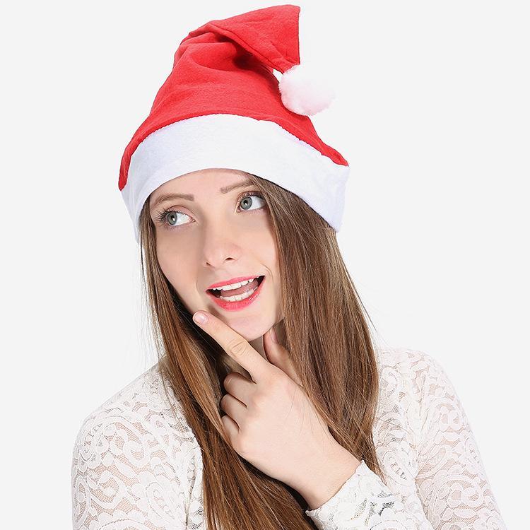 Acquista Rosso Cappello Di Babbo Natale Non Tessuto Ultra Morbido Peluche Natale  Cappelli Cosplay Adulti Bambino Natale Cappelli Festa A  0.4 Dal Homelab ... 4361bb3986ae