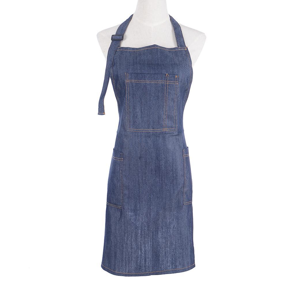 42efcbf40f Chef Apron By Durable Cotton Denim Apron With Pockets For Men Women ...