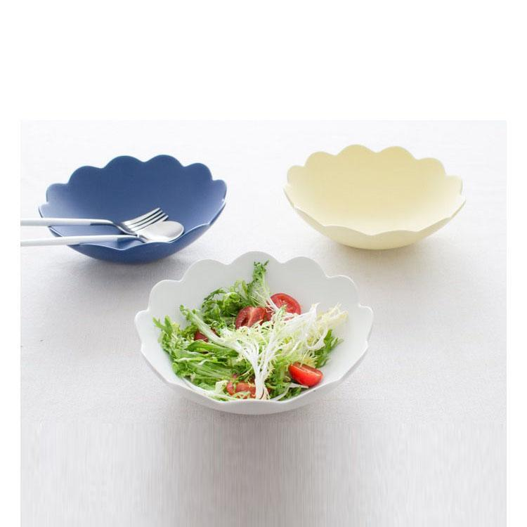 Flower Shaped Round Ceramic Salad Bowl Creative 23 Ounce