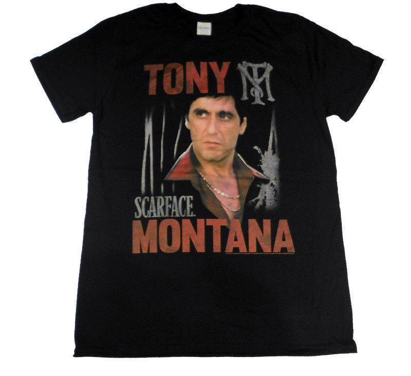 separation shoes ab3f2 b86c7 SCARFACE Tony Montana Official Fitted Jersey T Shirt Newest 2018 Fashion  Stranger Things T-Shirt Men Comical Shirt Men S
