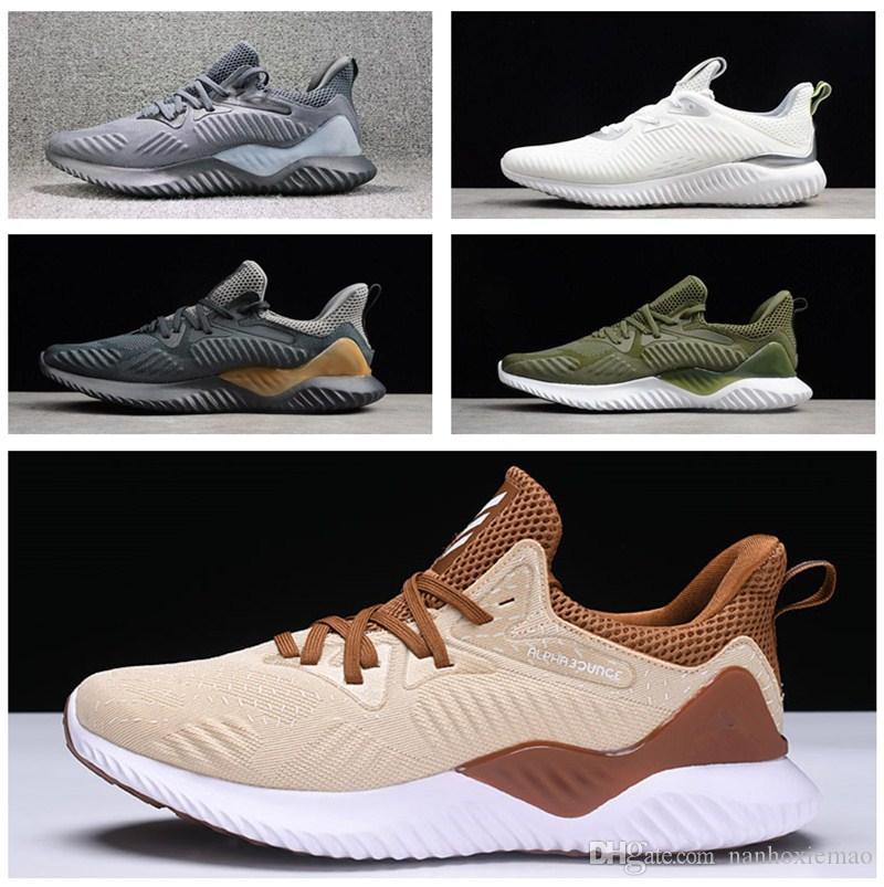premium selection a0042 94bb8 Acheter 2018 Vente En Gros Vente Chaude Adidas Alphabounce Em Boost 330 350  Chaussures De Course Alpha Bounce Sports Trainer Sneakers Homme Et Femmes  ...