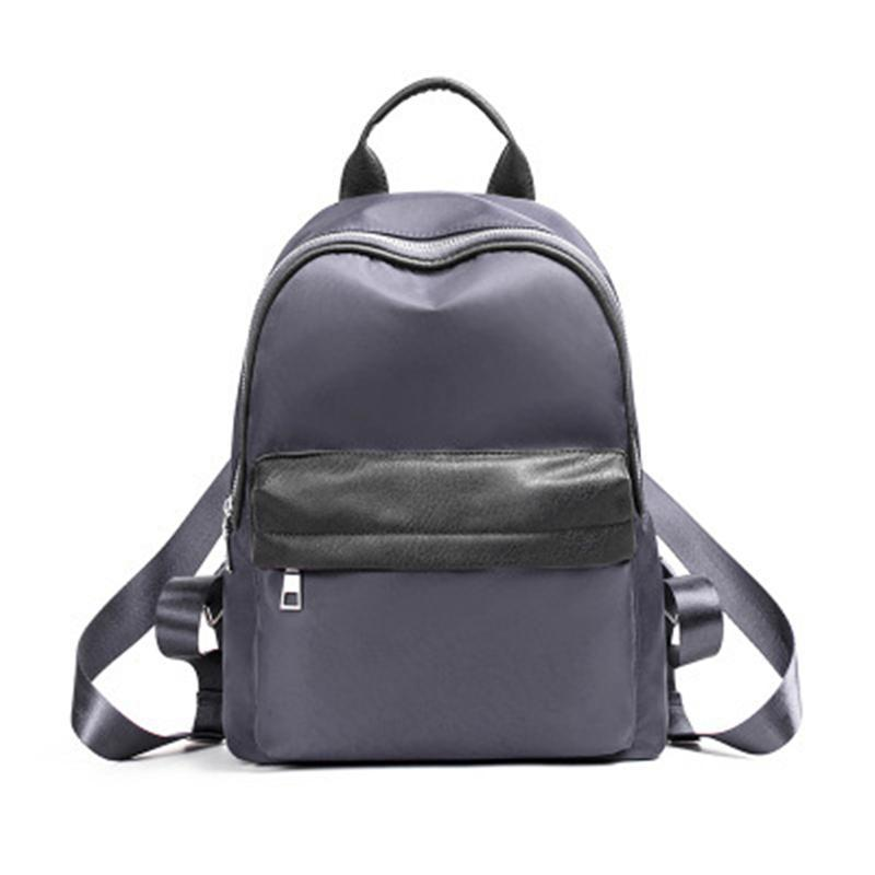 f870616507 Women Backpack New Fashion Nylon Solid Casual Travel Preppy Style High  School Shoulder Bags For Young Girl Student Purple Gray Backpacks Travel  Backpack ...