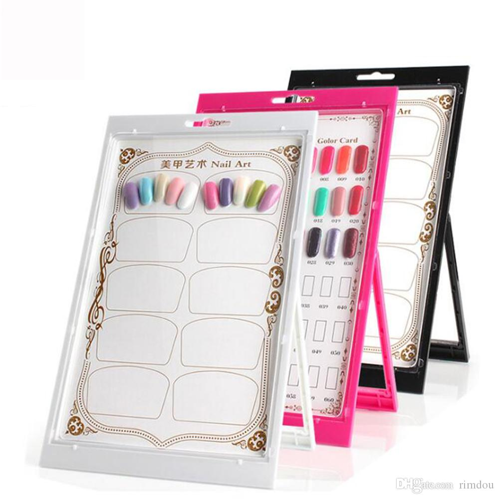 Nail Art Display Nail Gel Polish Color Card Display Tool Flower ...