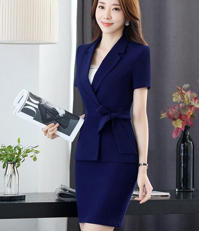 Compre Verão Das Mulheres De Negócios Das Senhoras Escritório ... 94c086c68e716