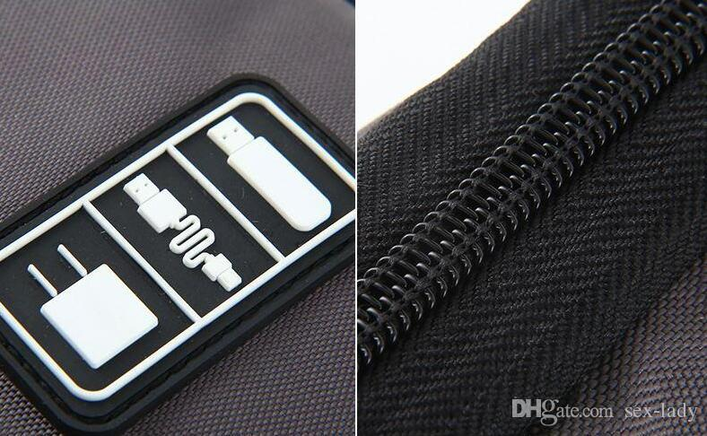 Nuovo arrivo Bubm Hard Drive Auricolari Cavi USB Flash Drive Custodia da viaggio Custodia digitale via cavo Organizer i DHL Free