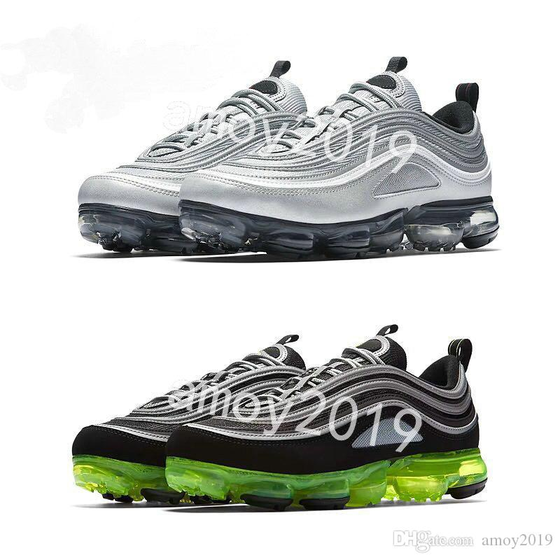 buy cheap wide range of New Arrive Men Women 2018 Vapormax 97 97s Black White Silver Gold Chaussure Homme Running Sports Trainers Sneakers 36-46 2015 for sale sale Manchester oirxg2a