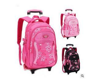 70e5cd7196 2018 Kids Travel Trolley Backpack On Wheels Girl S Trolley School Bags  Children S Travel Luggage Rolling Bag School Backpacks Cheap Bags Shoulder  Bags For ...