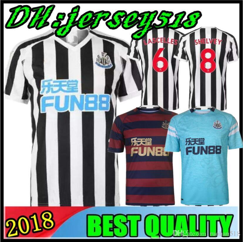 71f5f6a2e8 Compre 18 19 Camisas De Futebol Newcastle United 2018 2019 GAYLE MITROVIC  SHAYVEY AYOZE Camisas De Futebol Uniformes De Futebol Lascelles Adultos E  Crianças ...