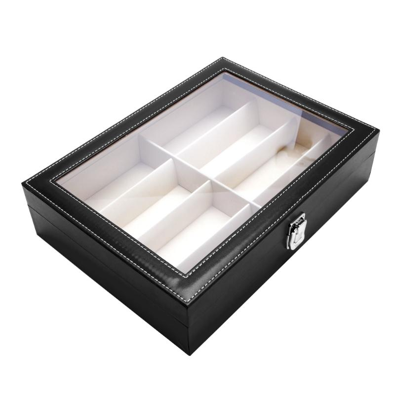 3011d16d9a 8 Slots Eyeglasses Sunglasses Faux Leather Storage Organizer Display Case  Box Automatic Watch Case Best Watch Case From Hoganr