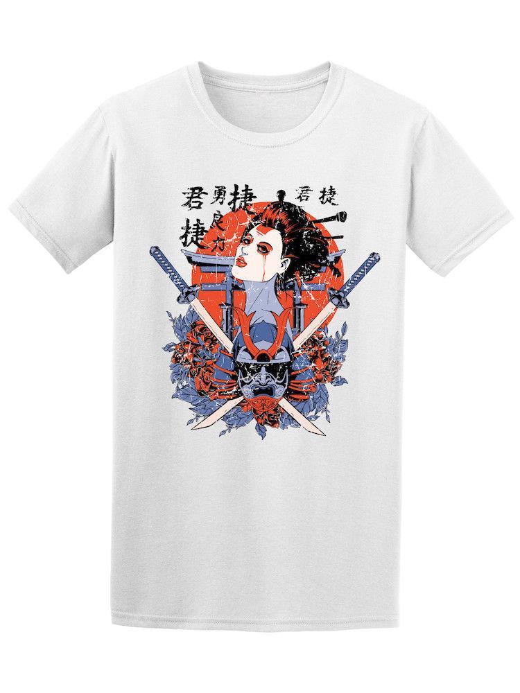 16cf83b12 Camiseta de Geisha Samurai Graphic Men de los japoneses - Imagen de  Shutterstock Novedad O-Neck Tops