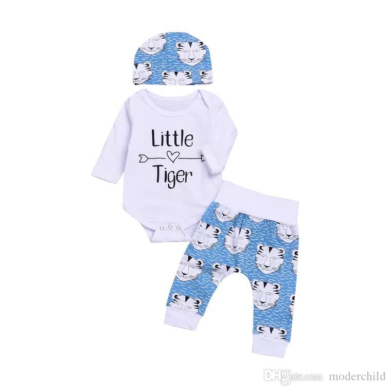 Grey MARLON Unisex Baby Tiger Baby Playsuit
