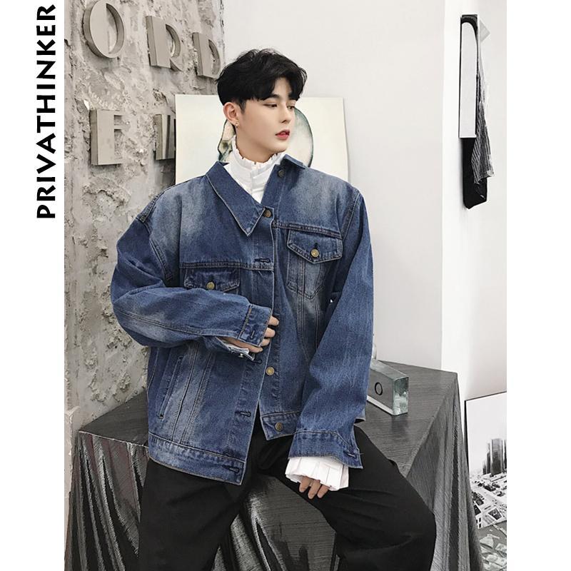 new concept 8d42f 64b36 Giacca uomo Denim 2018 Mens Streetwear Designer Giacche e cappotti Giacche  maschili Autunno Giacca a vento Jeans Jacket Clothes