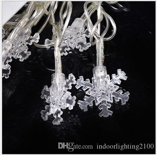 4M 20 luci AC110V / 220V Led Little Snowflake Lamp Strings Halloween Christmas Decoration Festival Luci notturne Stringhe led Flash Lighting