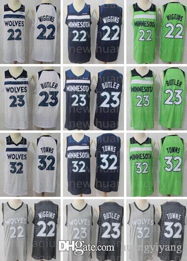 ... buy minnesota timberwolves 23 jimmy butler jerseys 32 karl anthony  towns jersey 22 andrew wiggins basketball 59dcd1eab