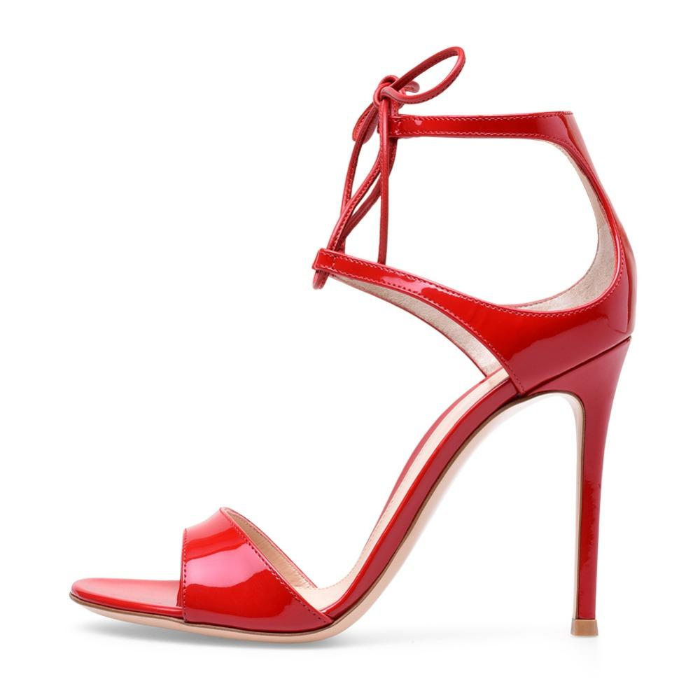 6f4c2bccb6b0c Newest Summer Lace Up Pumps Ankle Strap Red Shoes Sexy High Heels Sandals  Women Peep Toe Sandalia Feminina Party Ladies Shoes Strappy Sandals  Skechers ...