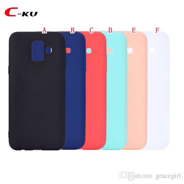huge discount f530a d4f98 Colorful Soft TPU Silicone Case For Samsung Galaxy A6 Plus J4 J6 2018 EU US  J8 2018 Huawei Y6 Y5 2018 Plain Smooth Phone Skin Cover 100pcs