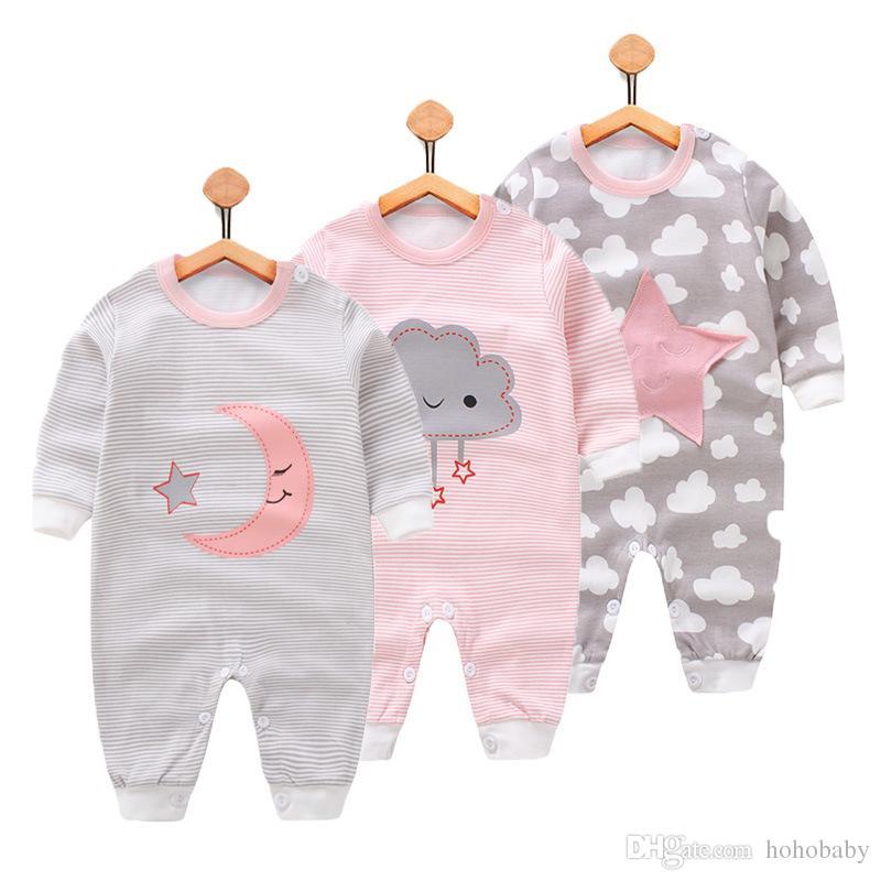 Großhandel Neugeborenes Baby Kleidung Druck Baby Strampler Winter ...