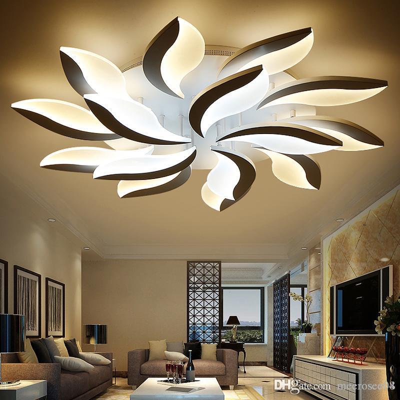 Neue Flower LED Deckenleuchten Wohnzimmer Schlafzimmer Lüster Hause  Deckenleuchte Acryl Lamparas de techo LED Deckenbeleuchtung