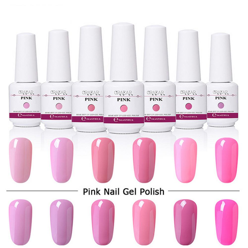 8ml Pink Series Harmony Gelish Nail Polish Soak Off LED UV Nail Gel Top It Off Foundation How To Remove Gel Nails Fake Nails From Beautyplus_one, ...