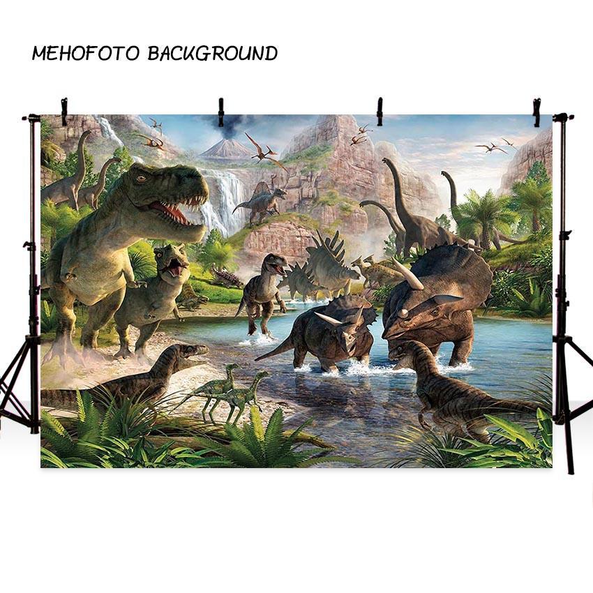 2019 mehofoto jurassic world backdrop photography dinosaur jungle