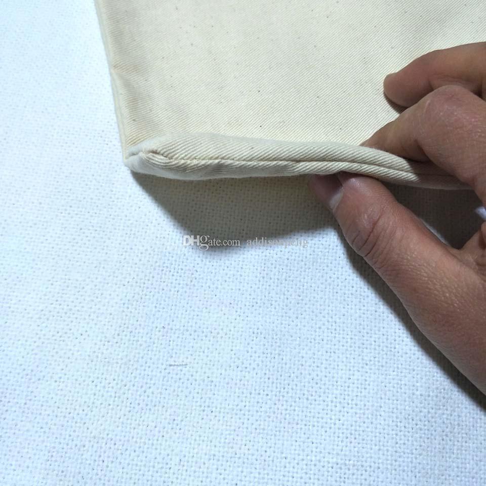 Düz doğal bej pamuk dimi yastık kılıfı boş pamuk dimi yastık örtüsü gizli zip ile 11 * 17in DHL tarafından ücretsiz gemi