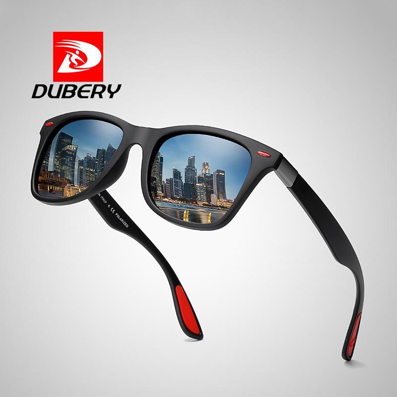 Compre DUBERY BRAND DESIGN Polarizada Óculos De Sol Das Mulheres Dos Homens  De Moda Rebite De Condução Shades Quadrado Quadro Óculos De Sol Espelho  UV400 ... 1b9326c4c4