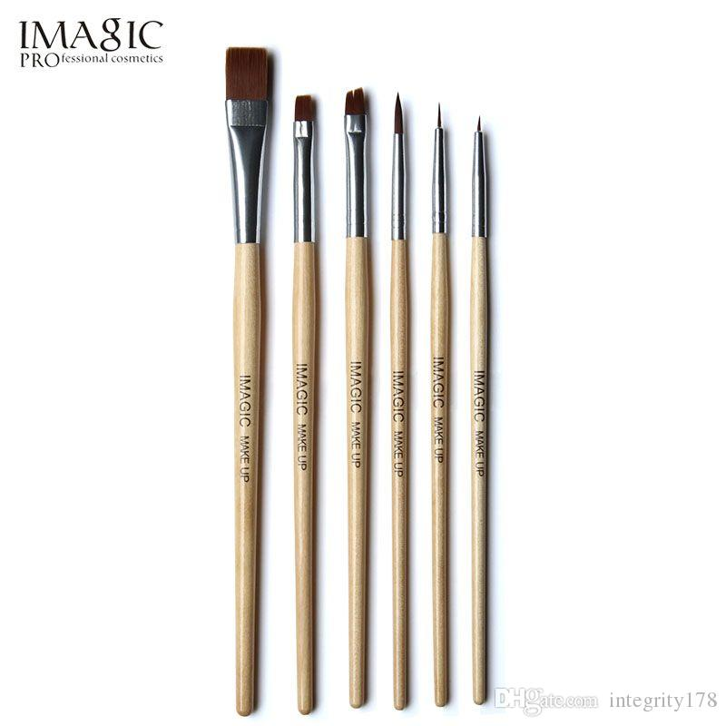 IMAGIC 6pcs/set brush painting paint brush for body and face make up brush set tools with wood handle and Kolinsky