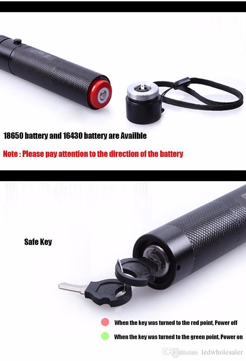 무료 배송 레이저 303 장거리 녹색 SD 303 레이저 포인터 강력한 사냥 레이저 펜 보어 가벼운 +18650 배터리 + 충전기