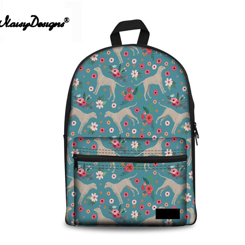 School Backpack For Girls Weimaraner Flower Canvas Teenager Schoolbag Book  Campus Backpacks Cute Dogs Printing Backpacker Rucksack School Bags For Kids  From ... acc3693f8fe10