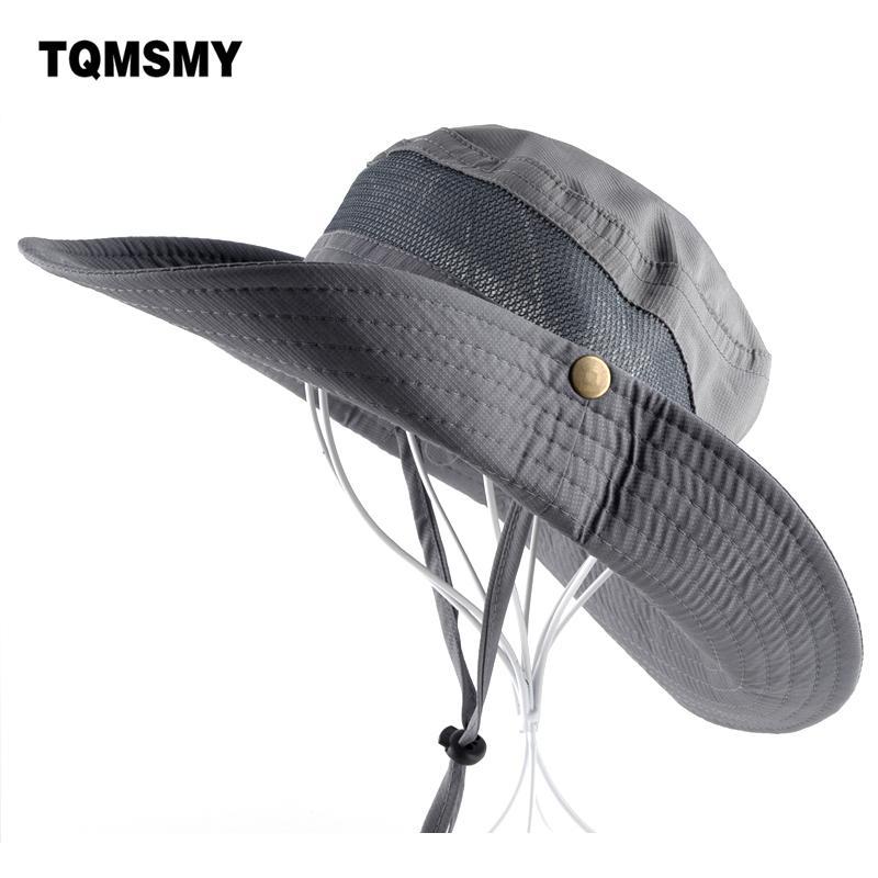 779af3848b1 Sun Hat Men Bucket Hats Women Summer Fishin Cap Wide Brim Uv ...