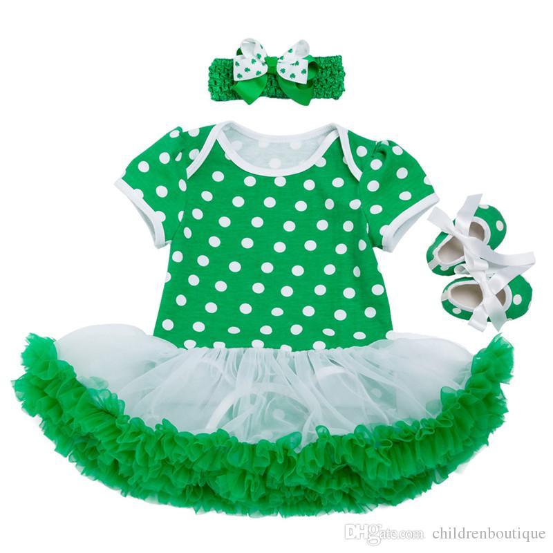0488160d50ca6 2019 St Patrick S Day Clothes Sets Girls Fashion Cotton Dress Romper ...