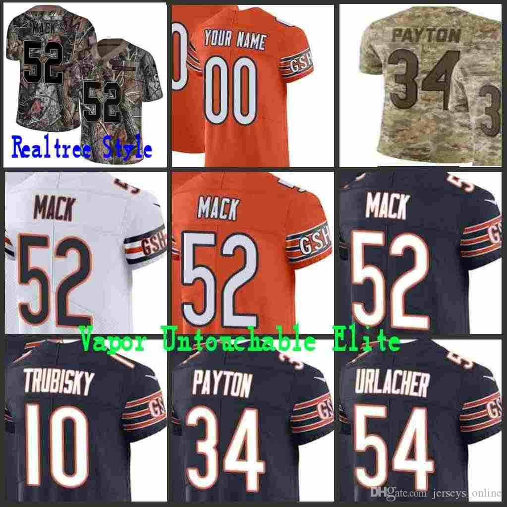 93dab83a5 2018 Mens Chicago Khalil Mack Mitchell Trubisky Walter Payton Roquan Smith  Bear Vapor Elite Camo Salute To Service Limited Jersey Stitched01 From ...