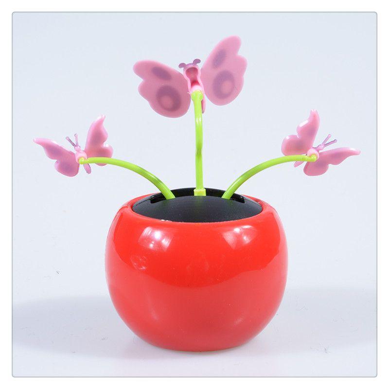 eedda1a1a50f18 Automobile Decoration Solar Power Automatic Swing Apple Flowerpot ...