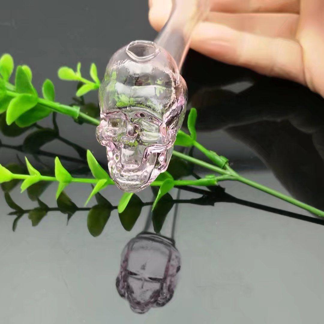 Caitou Schädelknochenrohr, Großhandel Glas Bongs Öl Wasserpfeifen Glaspfeife Ölplattformen Rauchen, Freies Verschiffen