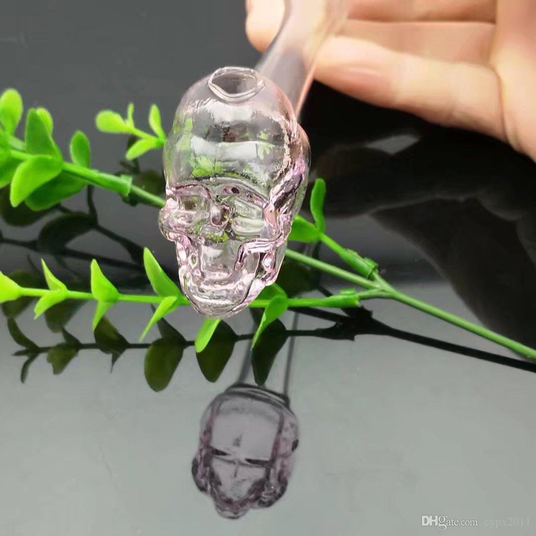 Caitou череп кости трубы , Оптовая стеклянные бонги нефть водопровод трубы стеклянная труба нефтяные вышки курение ,Бесплатная доставка