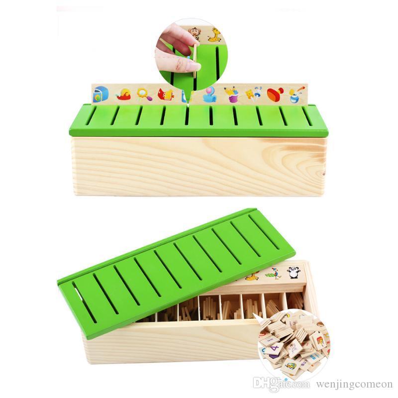 المعرفة الرياضية تصنيف لعبة صندوق الطفل المعرفي مطابقة الاطفال مونتيسوري التعلم المبكر صندوق التعلم الخشب لعبة التعلم