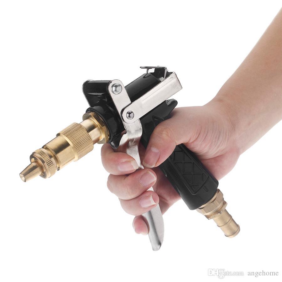 Boquilla de agua multifunción hogar pistola de agua de alta presión spray boquilla de cobre plástico para el lavado de coches jardín de riego